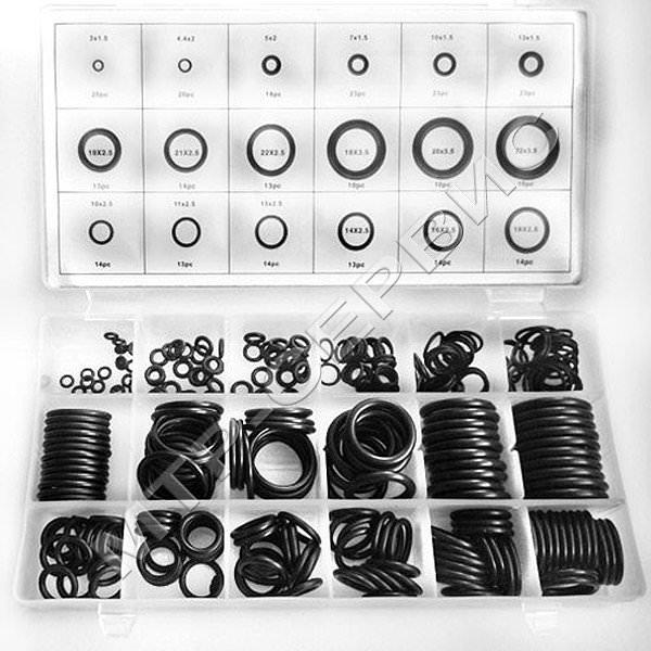 Набор резиновых колец 279 предметов (прозрачная коробка) оптом купить в Ачинск   Интернет-магазин achinsk.mtrservis.ru